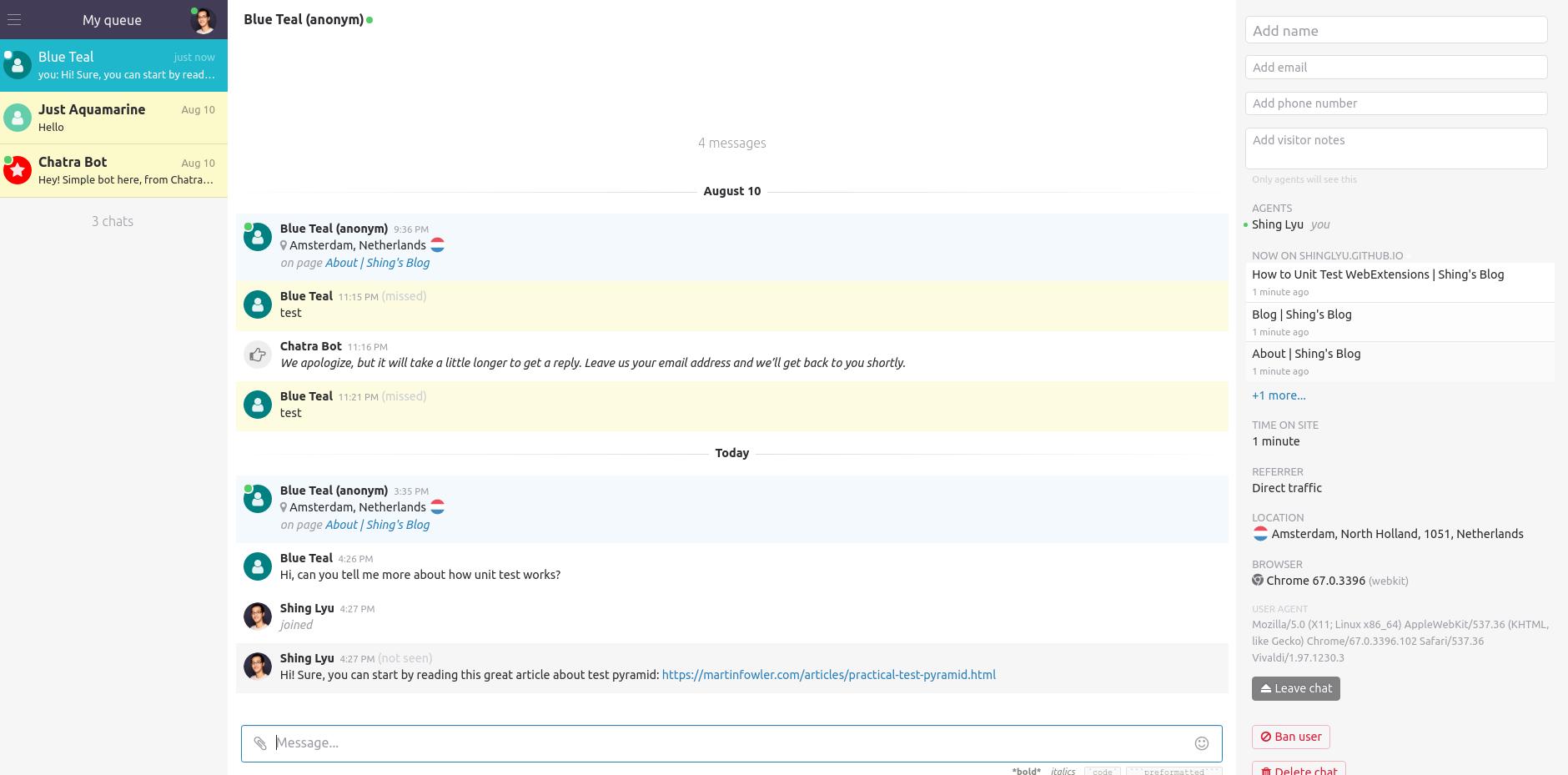 first login page