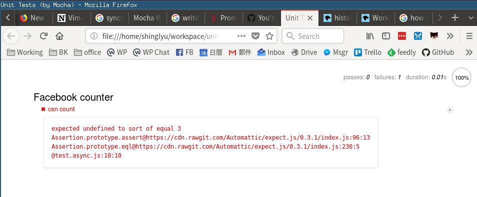 async code catched